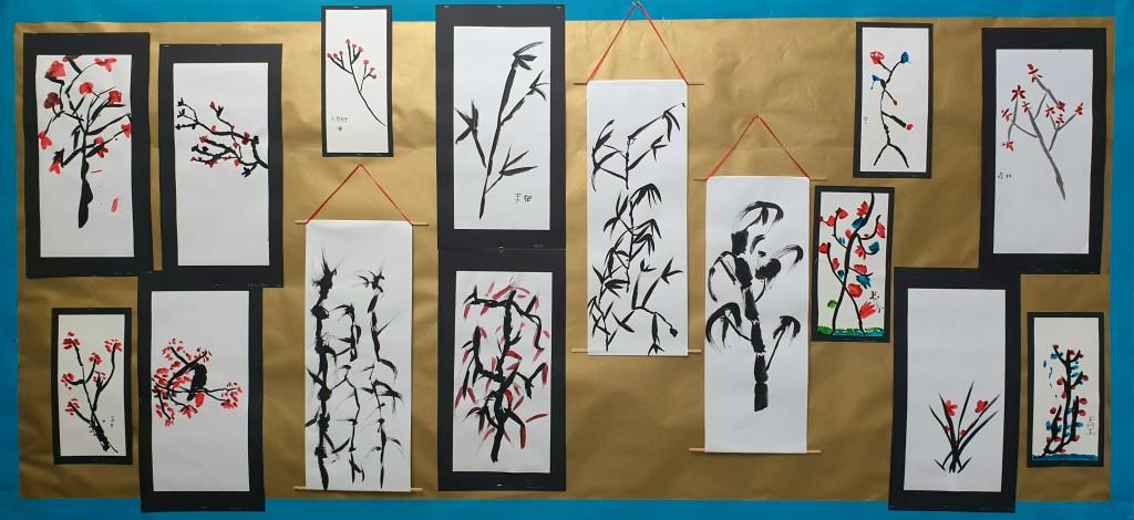 art - grade 3-4 Chinese brush painting
